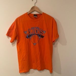 New York Knicks Stoudemire #1 orange t shirt